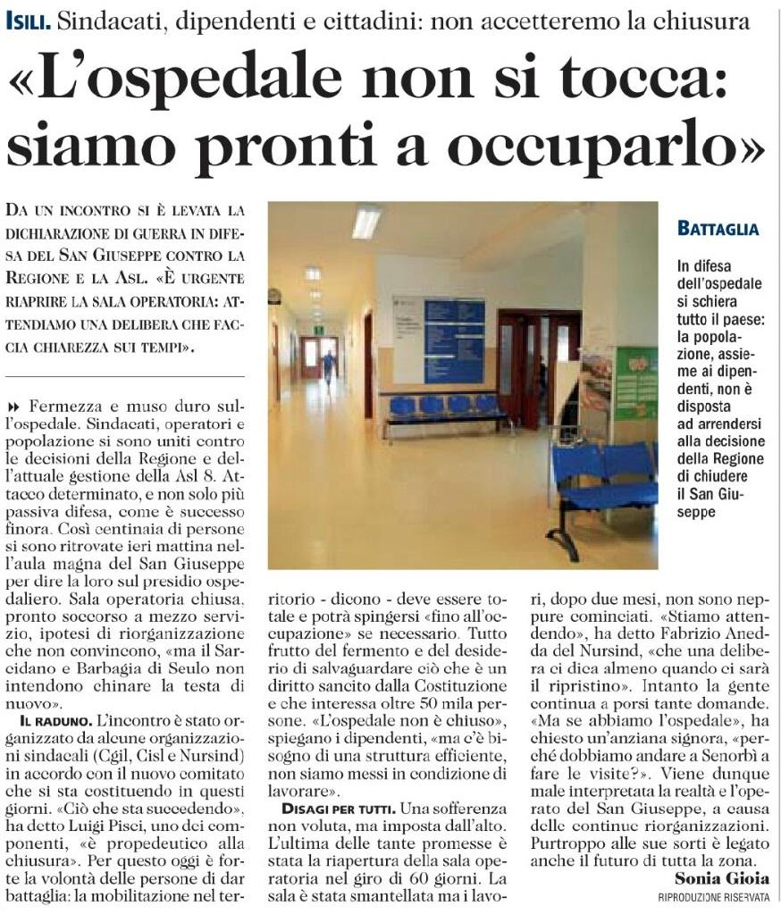 isili ospedale